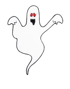 Dekorativt Spøkelse med Lysende Øyne