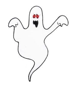 Fantomă decorativă cu ochi strălucitori