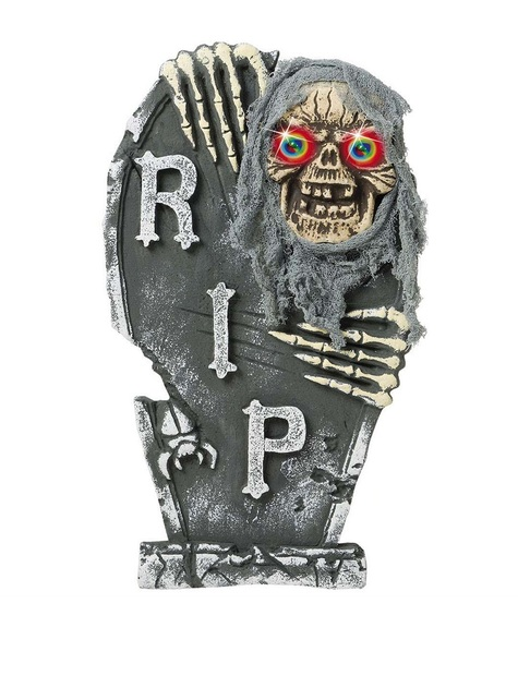 Lápida esqueleto con ojos de color