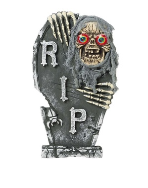 Skeleton Tombstone with Coloured Eyes