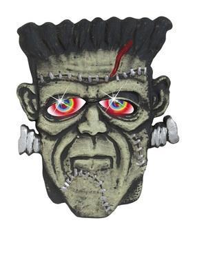 Potwór Frankenstein z oczami zmieniającymi kolor