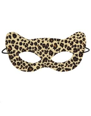 Máscara de leopardo sedutor para adulto