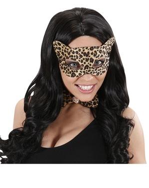 Mască pentru ochi de leopard seducător pentru adult