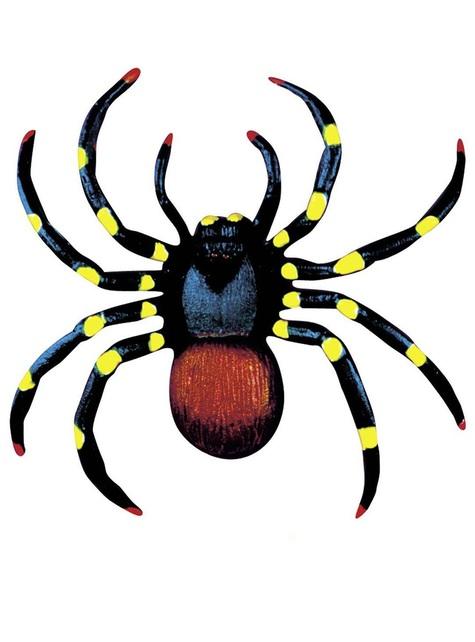 Pareja de arañas fluorescentes