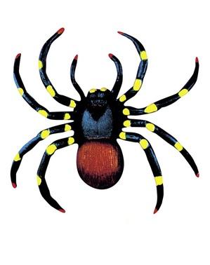 2 pimeässä hohtavaa hämähäkkiä