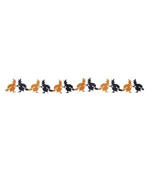 Guirlande med flyvende hekse