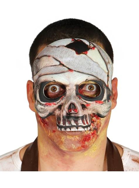 Careta de esqueleto momia de papel maché para adulto