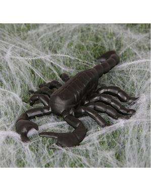 Dekorativ gigantisk skorpion figur 19 cm