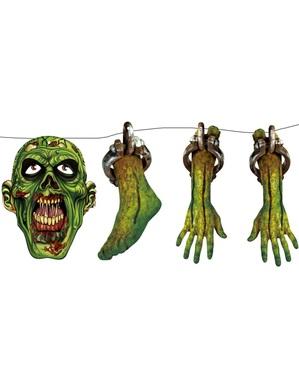 Verwoeste zombie spandoek