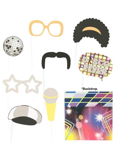 9 pièces et fond Photo call 70's disco