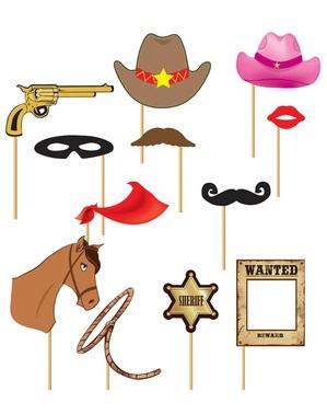 Set 12 stuks voor Photocall Western