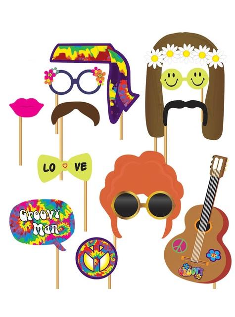 12 accesorios photocall Hippie