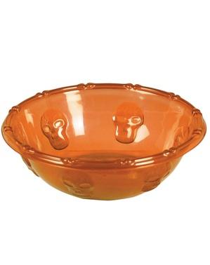 Miska z czaszkami pomarańczowa