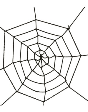 Toile d'araignée noire 60 cm