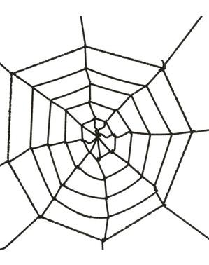 Zwarte spinnenweb 60cm