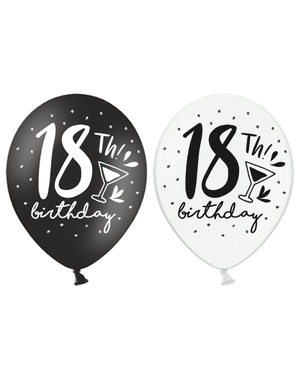 6 Super otpornih balona 18 rođendan (30 cm)
