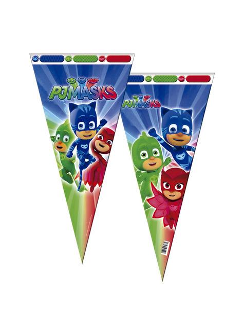 6 bolsas cono grandes PJ Masks