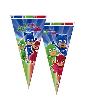6 bolsas de chucherías cono grandes PJ Masks