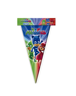 6 large cone PJ Masks Party bags