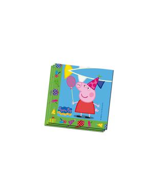 20 serviettes en papier Peppa Pig (33x33 cm)
