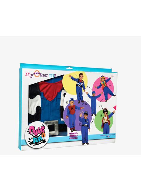 Blauw Quick n Fun kostuum voor kinderen