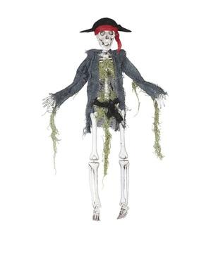 Esqueleto pirata colgante