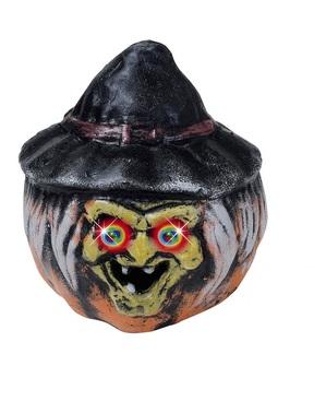 Calabaza bruja con ojos de colores