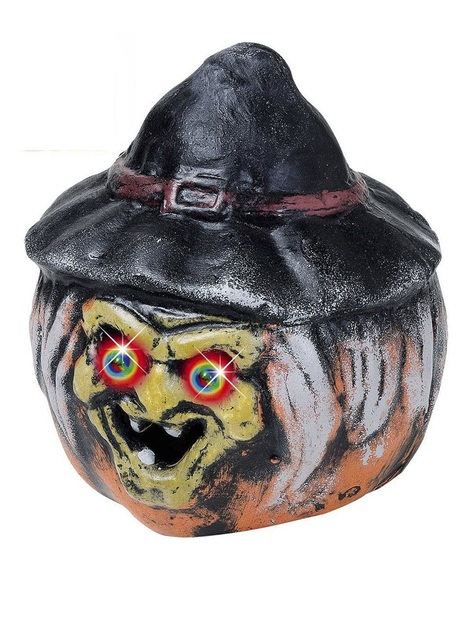 Witch Pumpkin with Coloured Eyes