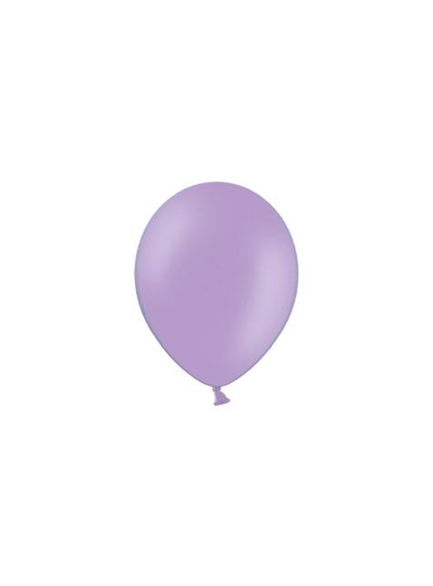 100 Sterke Ballonnen in Metallic Lavendel, 23 cm