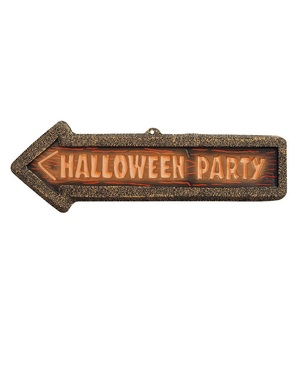 3D-Halloween Party - juliste kirkkaan värisellä tekstillä