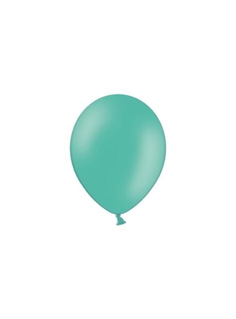 10 ballons extra résistants bleu aigue-marine pastel métallisé (27 cm)