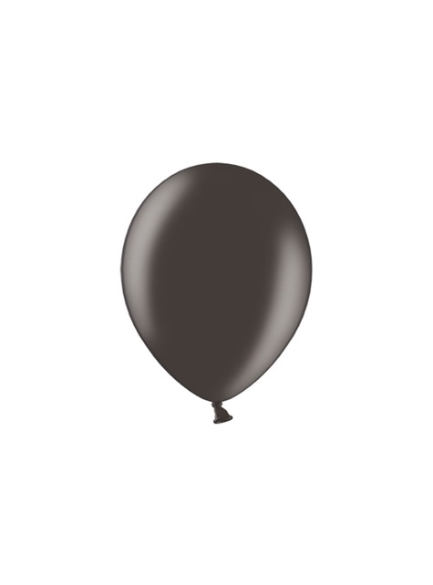 10 balões extra resistentes preto metalizado (30cm)
