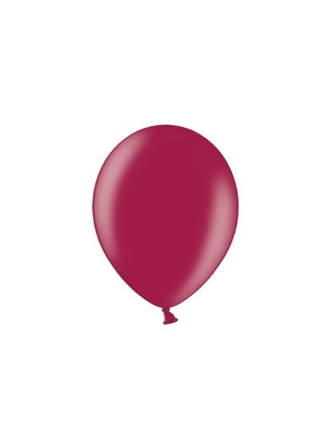 10 extra sterke ballonnen in metallic kastanjebruin (30 cm)