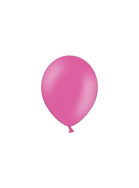10 metaliczne różowe mocne balony 27cm