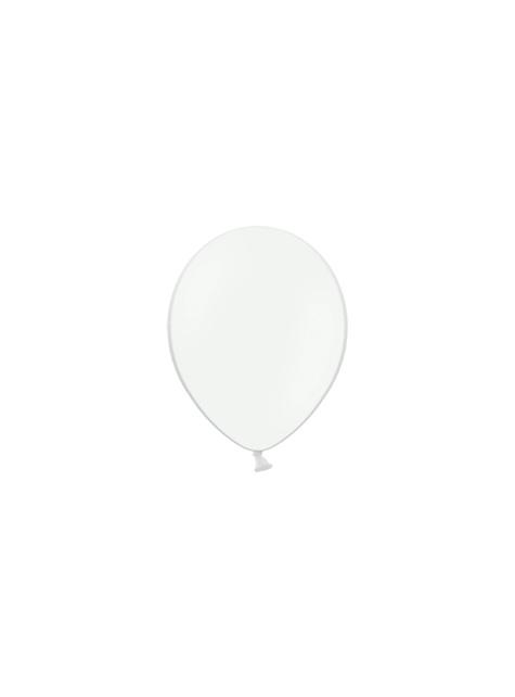 100 silných balónků v bílé barvě, 12 cm