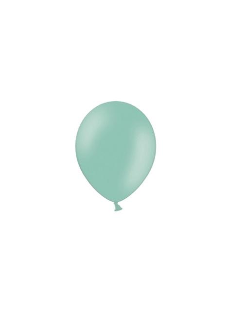 100 Palloncini super resistenti di 12 cm verde menta