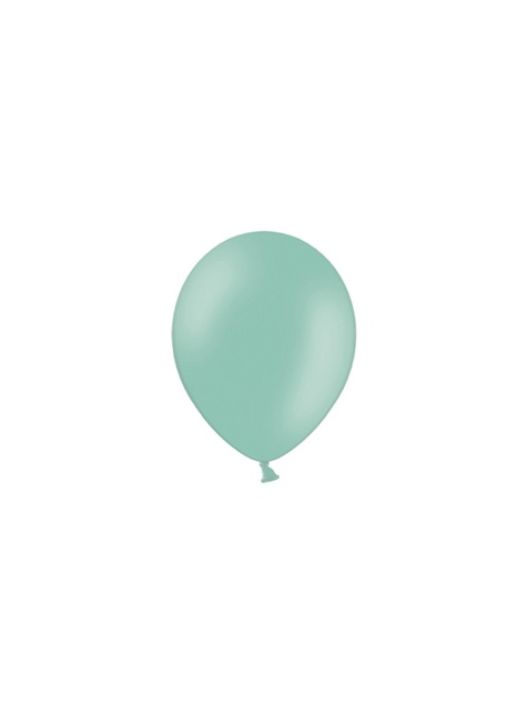 100 sterke ballonnen in muntgroen, 12 cm