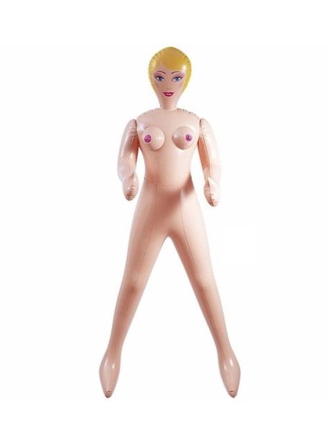 Blond oppustelig dukke