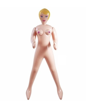 Opblaaspop blond haar