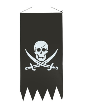 Черно пиратско знаме с череп