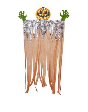 Unheimlicher Kürbis Hängefigur 3 Meter