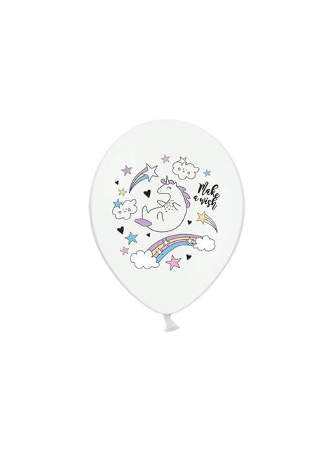 50 balões de latex com unicórnio (30cm) - Unicorn Collection
