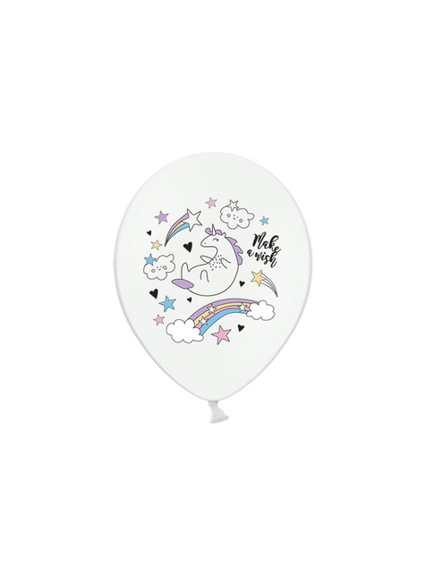 6 globos de látex de unicornio (30cm) - Unicorn Collection