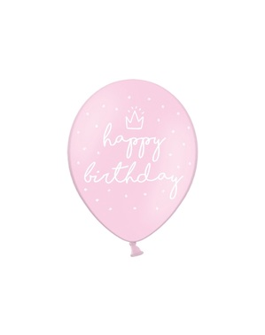 6 globos extra resistentes '' Happy Birthday