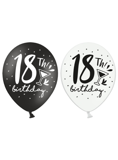 50 extra strong balloons - 18th birthday (30 cm)