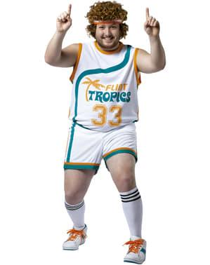 Disfraz de jugador de baloncesto profesional talla grande para hombre
