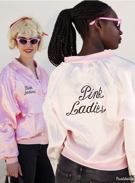 Casaco Pink Ladies - Fantasia de Grease