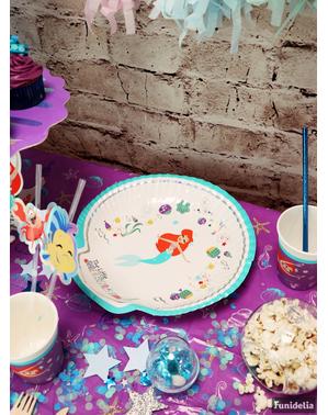 4 talerze w kształcie muszli Mała Syrenka – Ariel Under the Sea