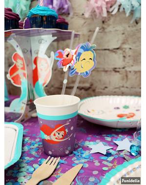 Set od 8 malih sirena Cups - Ariel pod morem