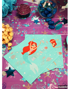 20 The Little Mermaid Napkin (33x33 cm) - Ariel Under the Sea